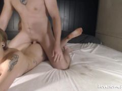Tattooed Wife Fucked Anal And Creampied