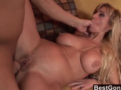 Blonde Milf Gets A Load On Her Asshole