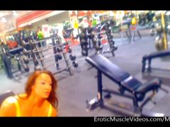 EroticMuscleVideos Big Guns Voyeur Pump