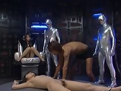 Sexy Asian Naked Chick Gets Crazily Licked in Group
