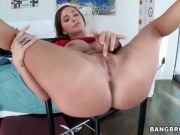 Destiny Dixon rubs her clit to get it juicy for his large cock to go deep i...