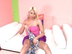 Blonde Tranny Is An Anal Cheerleader