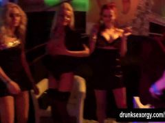 Bisexual babes fucking in club