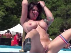 Busty Babe Naked Outdoors