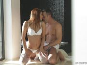 Stunning redhead grinds her pussy on top