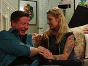 Hot tattooed PA Kleio Valentien fucks the boss