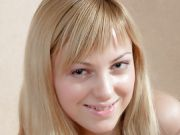 Stand-up-boobed Blonde Silvia Plays With Her Hot Pussy