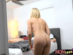 Luscious Stepmom And Naughty Teen 3some With Bald Dude