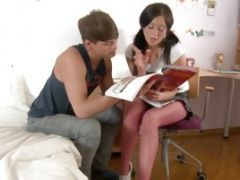 Horny Teen Becca Gets Tutored In How To Fuck