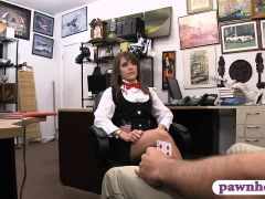 Hot amateur brunette babe screwed goes naked and fucked