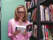 Brooke Wylde gets a yearned for fucking in the library