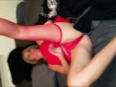 Cougar pleasing herself and her lover