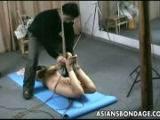 Amazing diva tied and banged