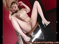 Oriental Amateur Squirts On Command