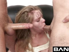 Trisha Takes Two Men\'s Dicks for her BANG Audition