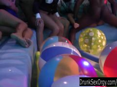 Sexy party chicks fucking in club