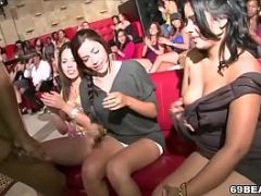 Horny Girls Suck Cock At CFNM Party