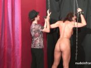 Amateur french brunette hard analyzed in groupsex