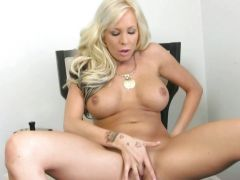 Eden Adams alone chick finger fuck on a chair