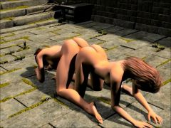 3D alone time masturbation and monster fucking