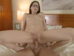 Young Small Tits Hardcore Nerdy College Fuck