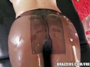 Big booty bombshell Blake Rose loves oily anal