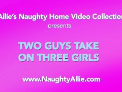 TWO GUYS TAKE ON THREE GIRLS