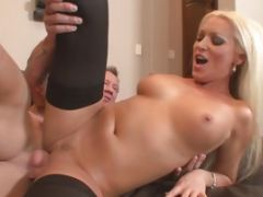 Pat Myne Sits Naked On The Couch After Giving Diana Doll Oral