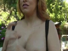 Cum on Lacie James Big Tits with that Big Black Cock