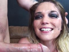 The beautiful Casey gets her throat poked DTD