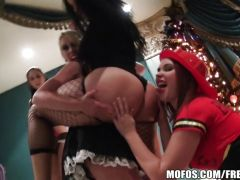 Hot babes Costume party group sex