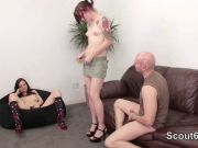 Female Casting Agent check Young German Couple in Fuck