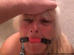 Anal Granny Gets Butt Fucked & Ball Gagged