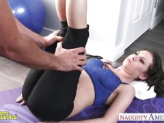 Exercise on a huge dick