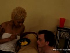 Fran feed her white slave