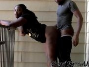 BLACK ASS GETS FUCKED OUTDOOR !!