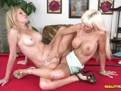 Pussy lovin MILFs Kasey Storm and Brianna Ray make it out on the pool table
