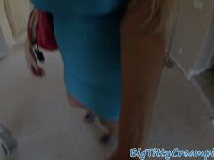 Hugetitted MILF Titfucks And Sucks POV Style