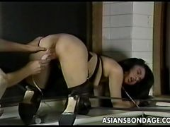 Sensational diva in bondage