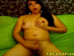 Busty Asian Tranny Masturbation