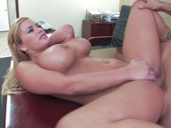 Blonde fucked on the table