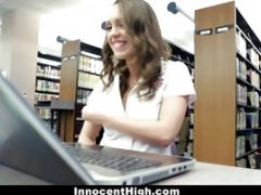 Busty Babe Gets Fucked Hard In The Library