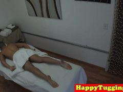 Tattooed Asian Masseuse Tugging Her Client