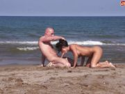 Big Boobed Milf Gets Fucked On A Beach
