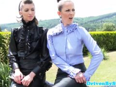Classy Eurobabes Fistfucked Outdoors
