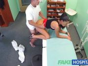 Horny brunette fucked by doctor