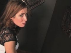 Sheena Shaw Gets A Cumshot From A Hole In The Wall