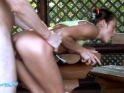 Teen fucked in forest