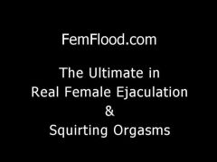 Genuine hot Pulsing Pussy and Squirting Orgasm