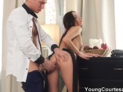 Super Hot Model Gets A Load Right On Her Butt